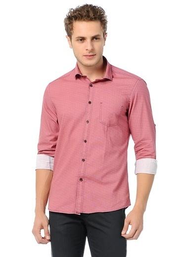 Wessi Uzun Kollu Slim Fit Gömlek Kırmızı